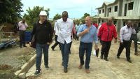 PM SKERRIT VISITS HOUSING DEVELOPMENTS IN PORTSMOUTH